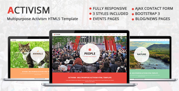Activism - Multipurpose Activism HTML5 Website Template