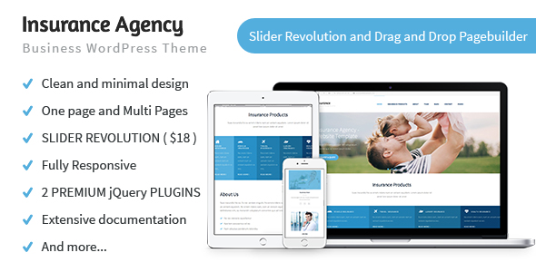 Insurance Agency Business and Insurance WordPress Theme